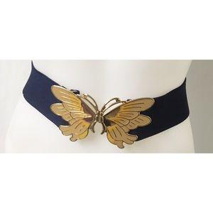 Blue/Gold Vintage Belt Size M/L